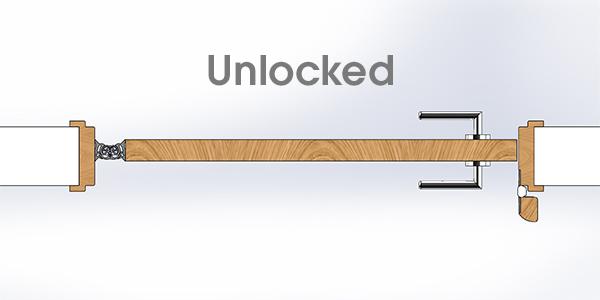 Secura Anti-Barricade Lock - Unlocked
