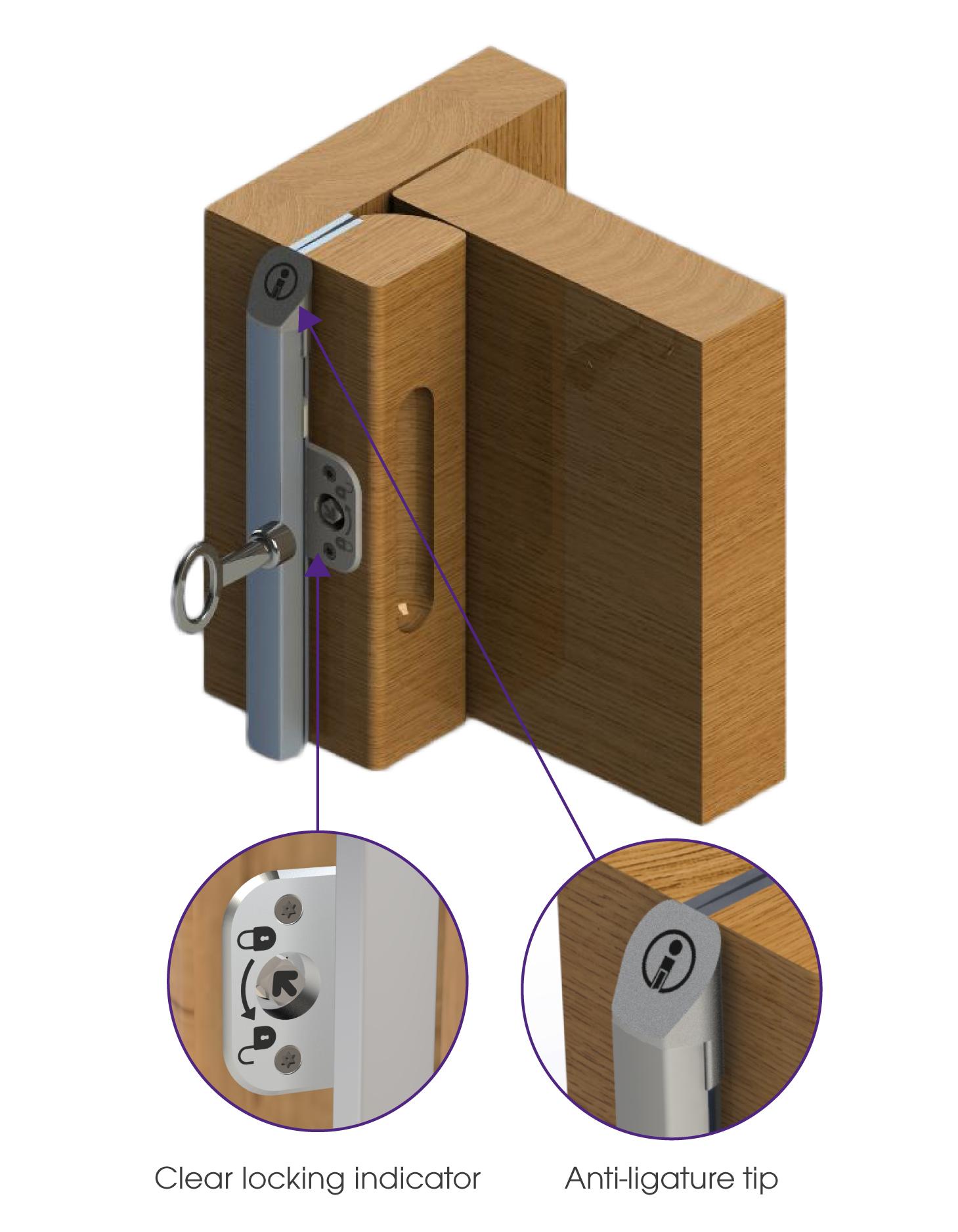 The SECURA™ Multi-lock Removable Doorstop